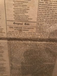NYPL Whitman Newspaper Article by Walter Whitman