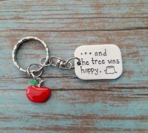 Shel Silverstein The Giving Tree keychain