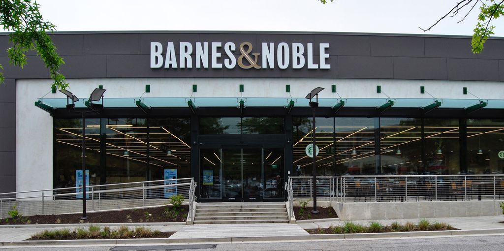 exterior of barnes and noble concept store