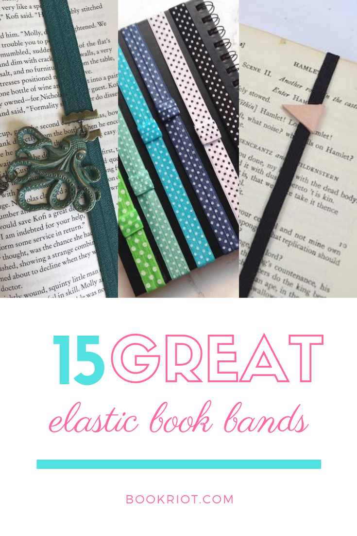 Cute, practical, and fun: these are the best elastic book bands to help hold your place in your book or in your planner. book bands | elastic book bands | book accessories | best book bands | bookmarks | page holders