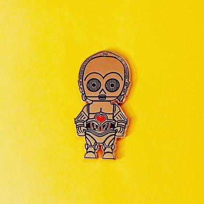 Star Wars C3P0 droid enamel pin