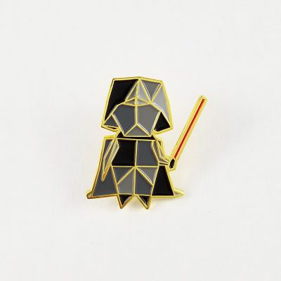 Darth Vader origami style enamel pin