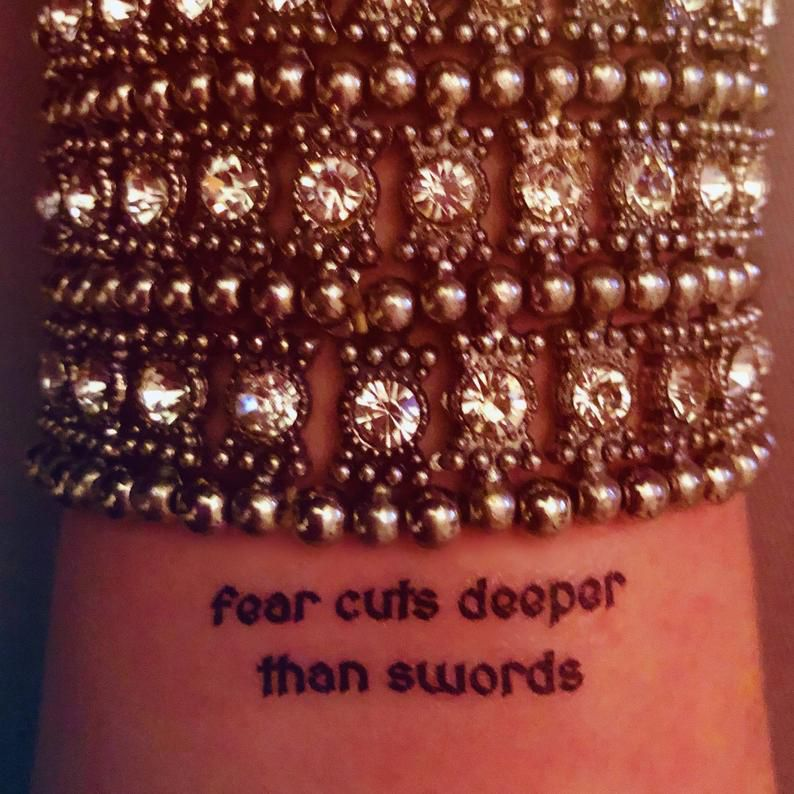 fear cuts deeper than swords game of thrones temporary tattoos