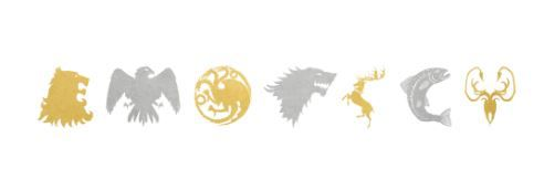 game of thrones temporary tattoos seven houses