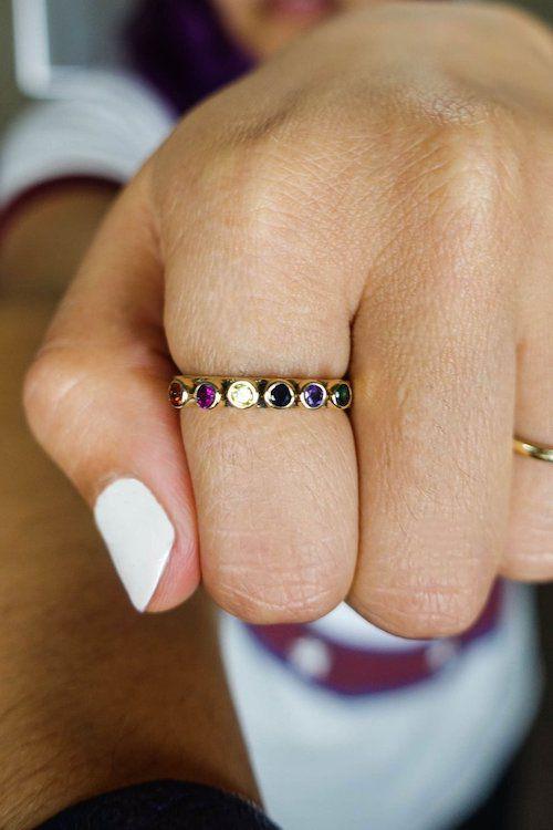 women's infinity stones ring