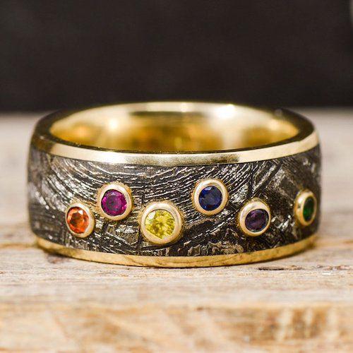 Men's infinity stones ring