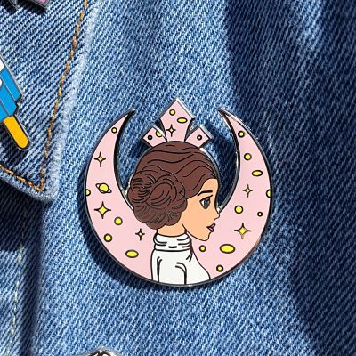 Princess Leia rebel alliance insignia enamel pin