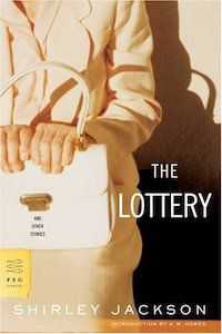 Book cover of The Lottery by Shirley Jackson.