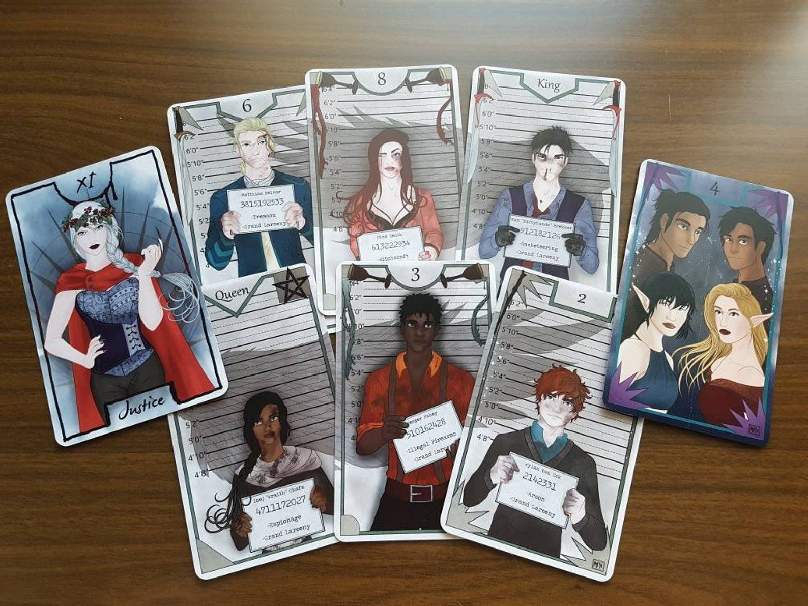 YA Fantasy Tarot Cards