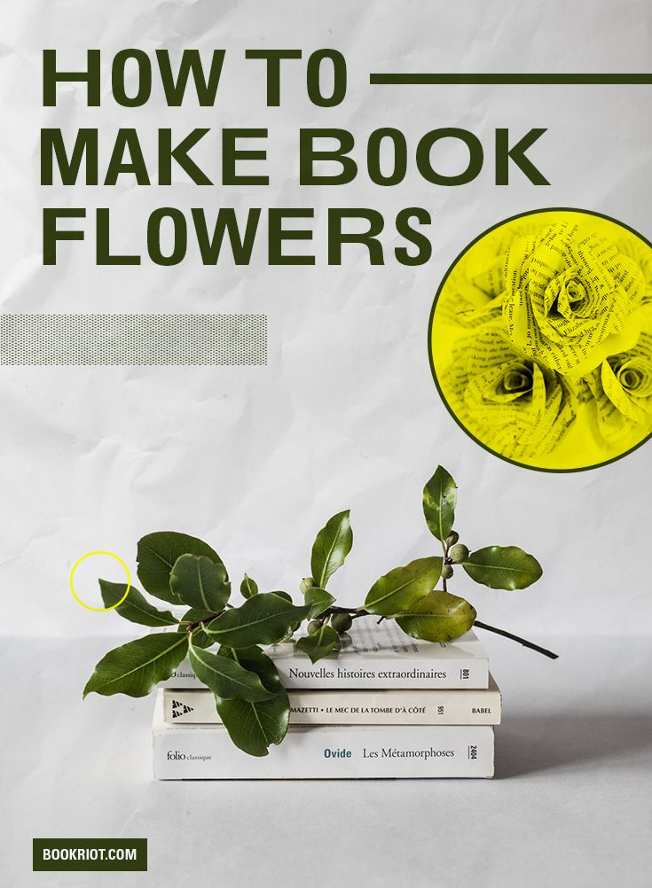 How to Make Book Flowers