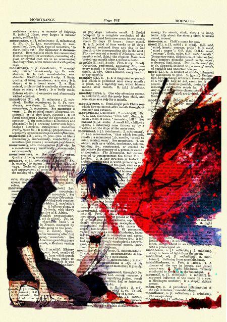 Tokyo Ghoul art featuring Kaneki and Touka