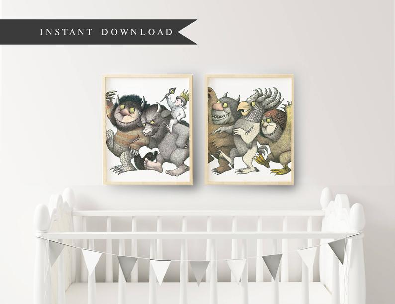 where the wild things are printable art