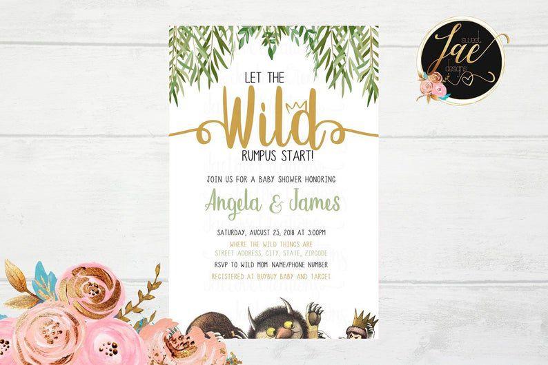 Wild Rumpus Invitation