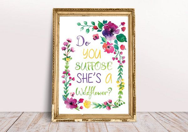 do_you_suppose_shes_a_wildflower_watercolor_print_with_personalization