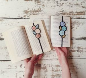Embroidered Flower Bookmarks