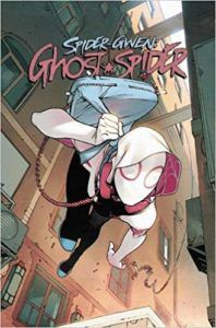 Spider-Gwen Ghost Spider from New Comics by Novelists You Love | bookriot.com