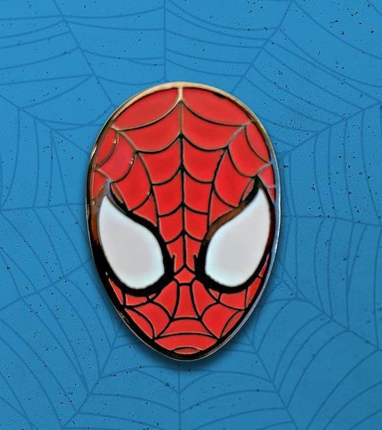Spider-Man enamel pin mask