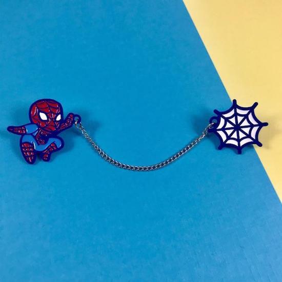 spider-man enamel pins for collar