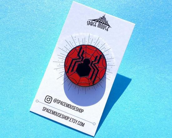 Far From Home spider symbol enamil pin