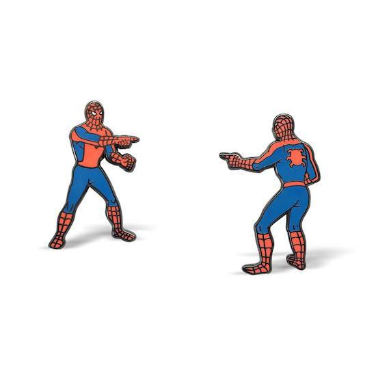 spider-man pointing meme pins