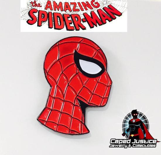 Spider-Man mask profile enamel pin