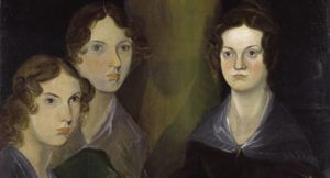 Portrait of the Bronte sisters: Charlotte, Emily, and Anne