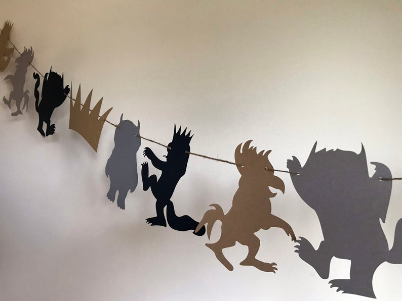 where the wild things are silhouette banner