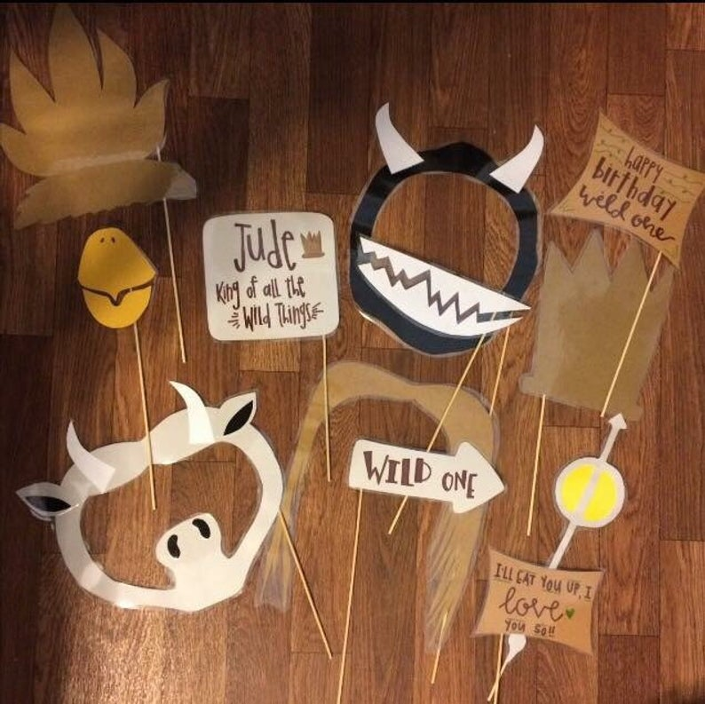 where the wild things are photo booth props