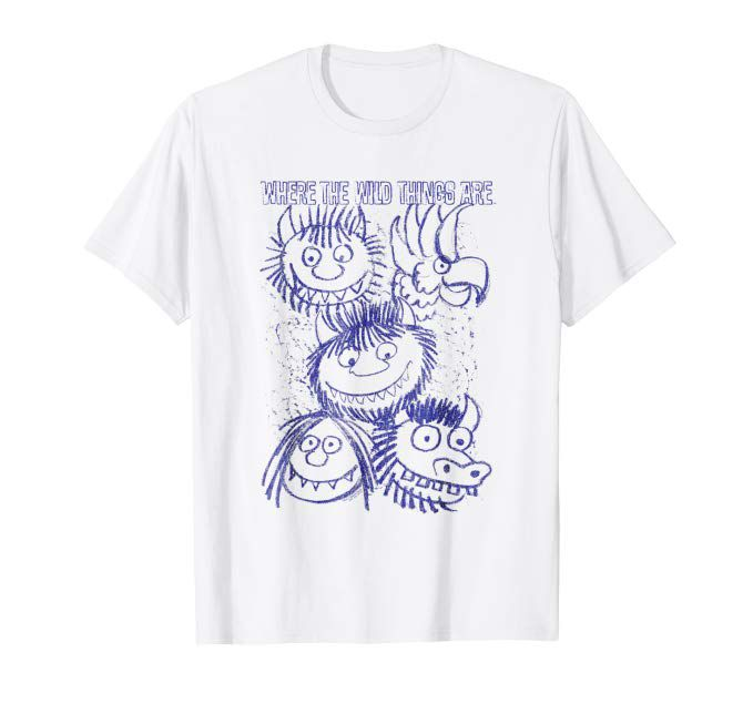 Where the Wild Things Are Sketch T-Shirt from Bookriot.com