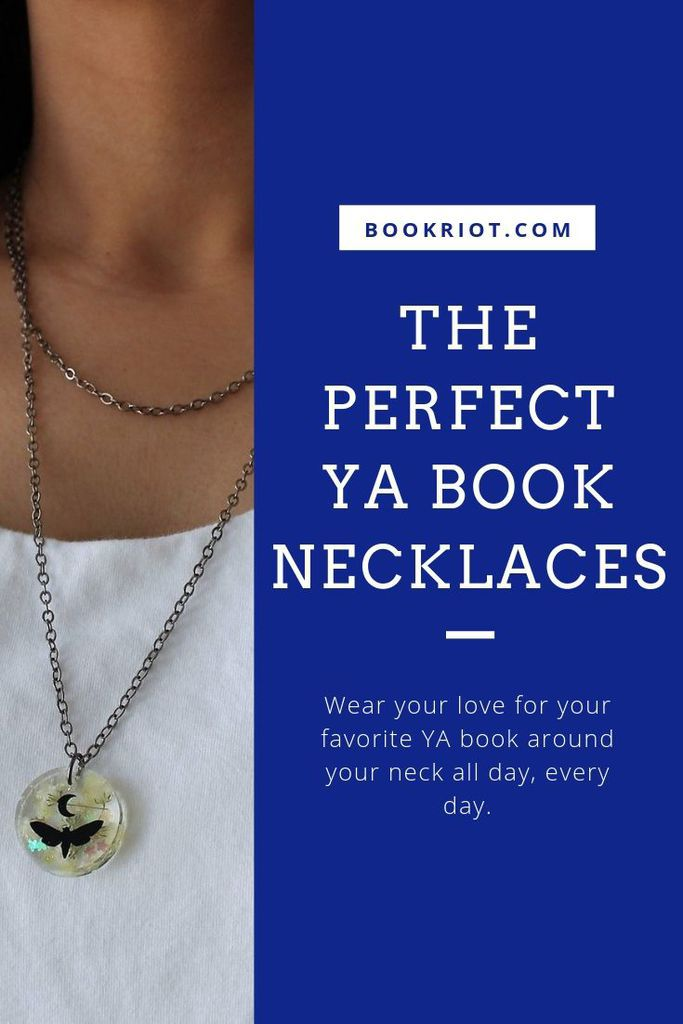 Whether you love Lara Jean, Katniss, or Percy Jackson, find the best, most creative, and most unique YA book necklaces out there. YA books | YA fandom | YA jewelry | Bookish Gifts | Gifts for book lovers | gifts for readers | #YALit