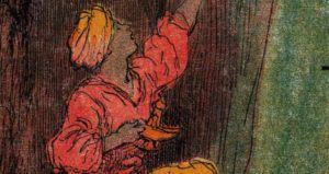 Aladdin by Albert Robida (1848-1926) public domain