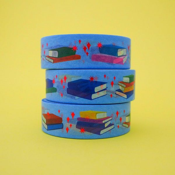 Book Red Foil Washi Tape by fairycakes
