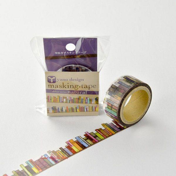 Book Shelf Japanese Die Cut Washi Tape by SweetSuppliesStore