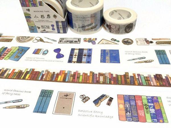 Books Stationary Wide Washi Masking Tape by TapesKingdom