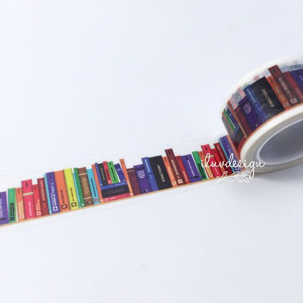 Books Washi Tape - Library Books (183369) by iluvdesign