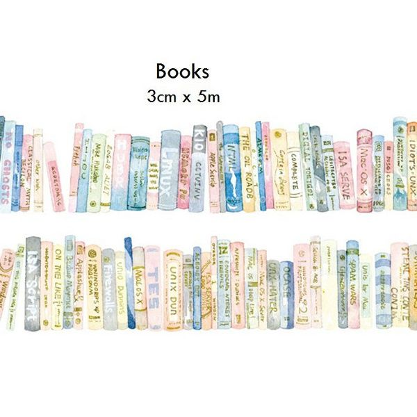 Books Washi Tape by TinyHeartCo