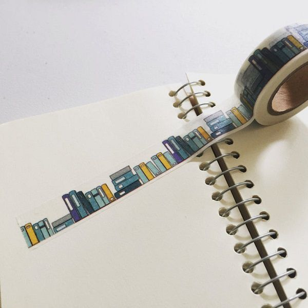 Books Washi Tape by dadastickers