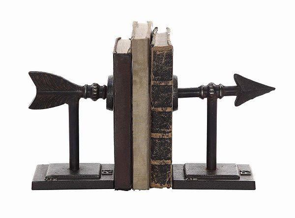 Cast iron metal arrow bookends