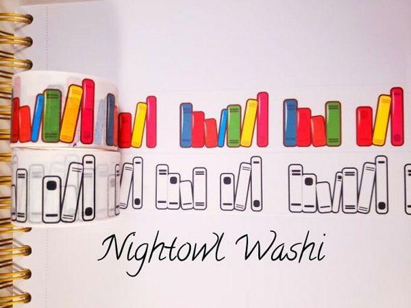 Custom Book Washi Tape by NightowlWashi