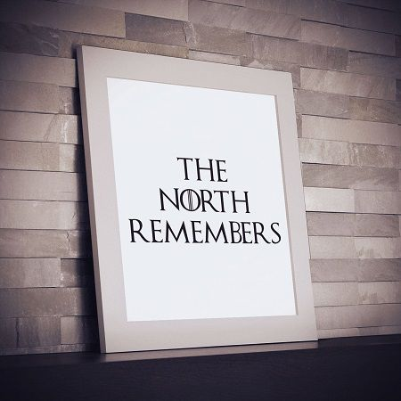 Game of Thrones quote - The North Remembers
