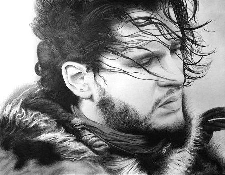 GoT fan art of Jon Snow