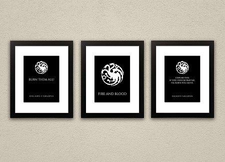 House Targaryen print set