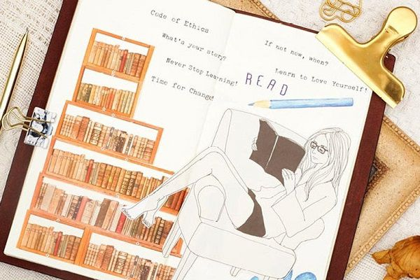 Library Books Washi Tape Set by mycraft2014