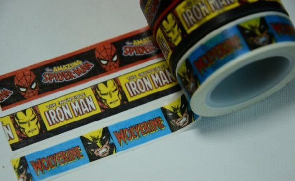 Marvel Comics Washi Masking Paper Tape by CollectingLife