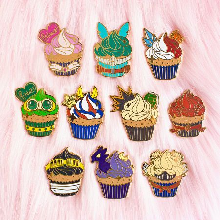 My Hero Academia cupcake pin