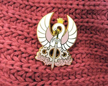 Princess Tutu gold swan pin