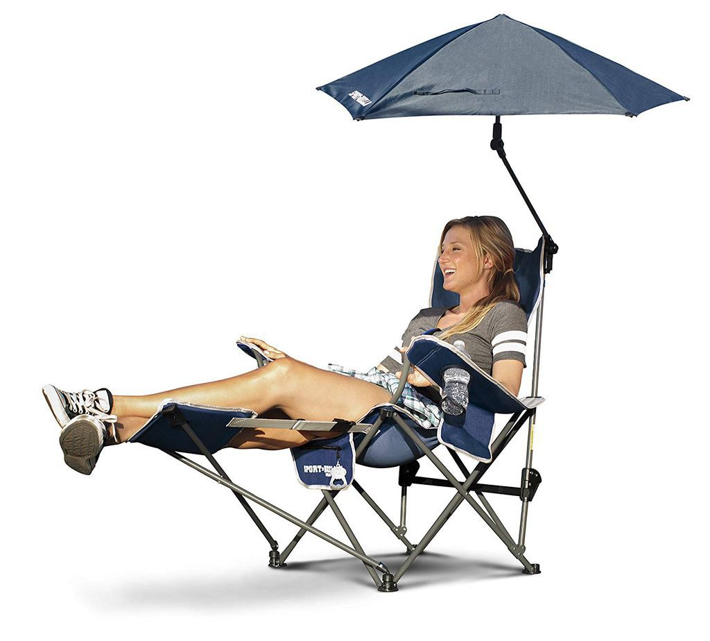 Foldable Recliner with Umbrella