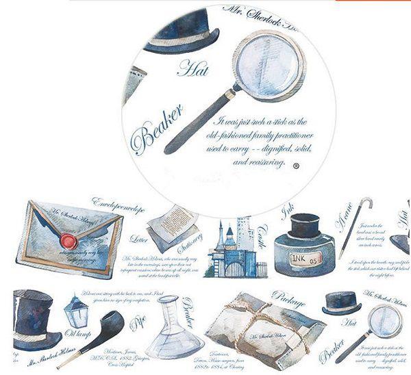Sherlock Holmes Washi Tape by alicemolds
