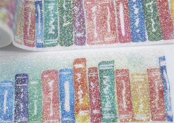 Shining Glitter Books Washi Tape by Fouryoubest