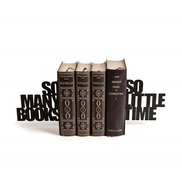 So many books so little time metal bookends